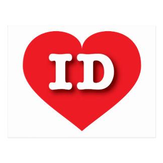 Idaho Red Heart - Big Love Postcard