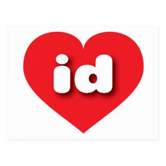 idaho red heart - mini love postcard