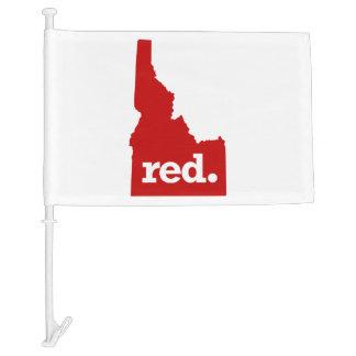 IDAHO RED STATE CAR FLAG
