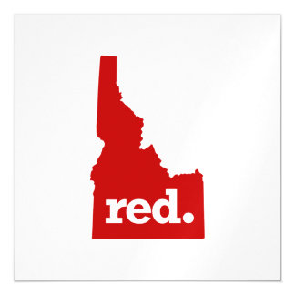 IDAHO RED STATE MAGNETIC CARD