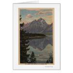 Idaho - reflexión magnífica de Teton en el lago ja Tarjeta De Felicitación