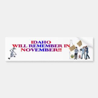 Idaho - Return Congress To The People!! Bumper Sticker