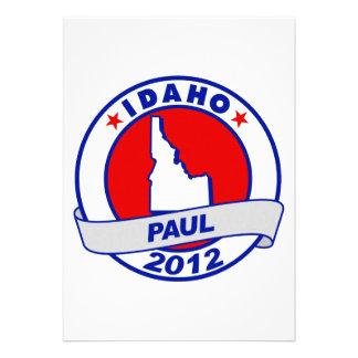 Idaho Ron Paul Personalized Invitation