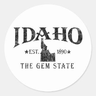 Idaho Round Sticker