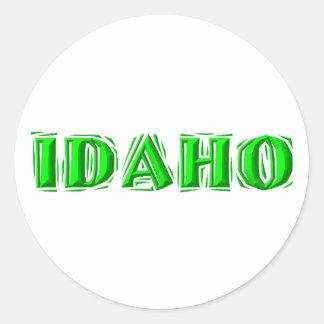Idaho Round Stickers