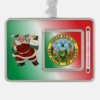 Idaho Santa Claus Christmas Ornament