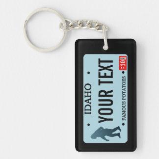 Idaho Sasquatch License Plate Keychain
