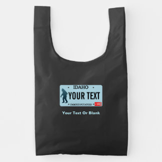 Idaho Sasquatch License Plate Reusable Bag