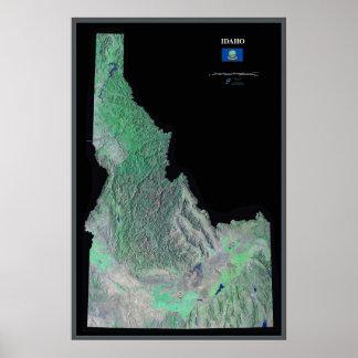 Idaho satellite poster