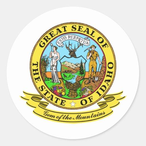 Idaho Seal Classic Round Sticker