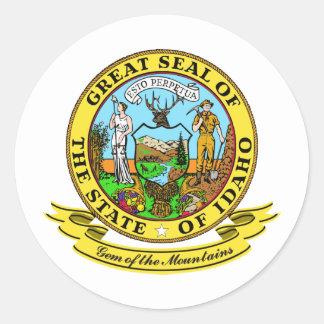 Idaho Seal Round Sticker