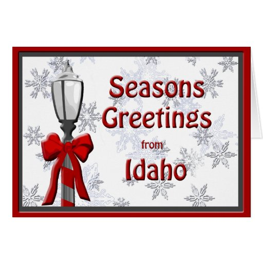 Idaho Seasons Greetings Lamp Snowflake Cards