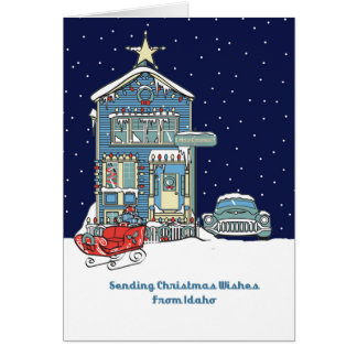 Idaho Sending Christmas Wishes Card