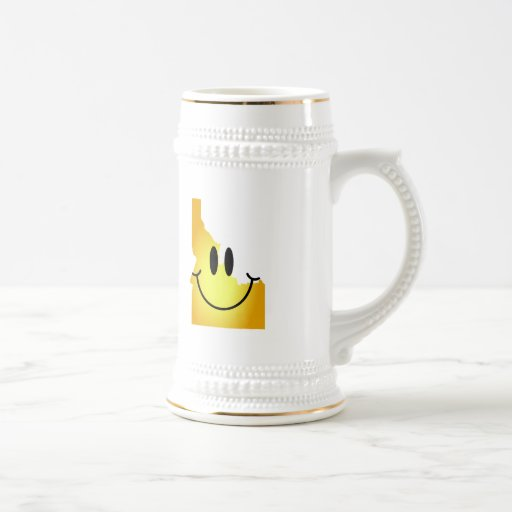 Idaho Smiley Face Beer Stein