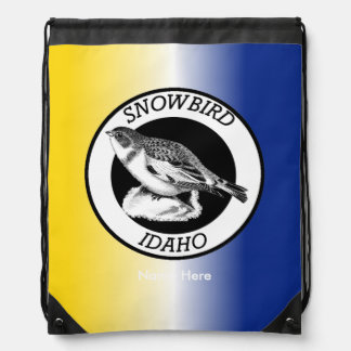Idaho Snowbird Shield Drawstring Bag