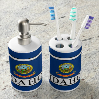 Idaho Soap Dispenser And Toothbrush Holder