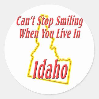 Idaho - sonriendo pegatinas redondas