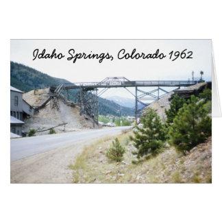 Idaho Springs Colorado 1962 Greeting Card