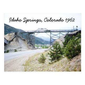 Idaho Springs Colorado 1962 Postcard