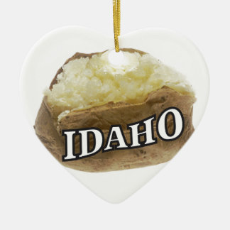 Idaho spud ceramic ornament