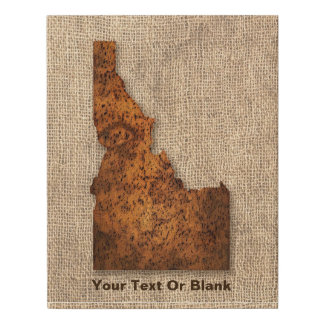 Idaho Spud Map Faux Canvas Print
