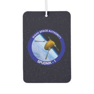 Idaho Spudnik Satellite Mission Patch Air Freshener
