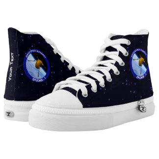 Idaho Spudnik Satellite Mission Patch High-Top Sneakers
