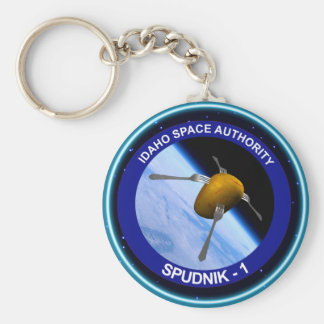 Idaho Spudnik Satellite Mission Patch Keychain