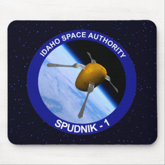 Idaho Spudnik Satellite Mission Patch Mouse Pad