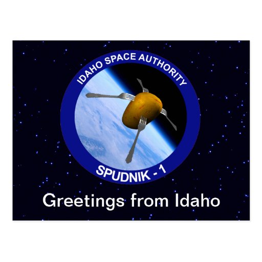 Idaho Spudnik Satellite Mission Patch Post Cards