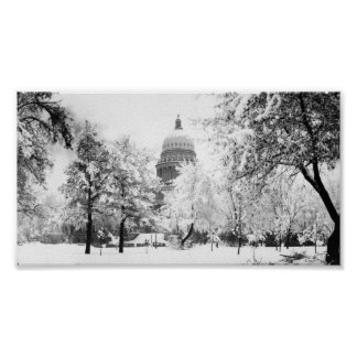 Idaho State Capitol in Snow Poster
