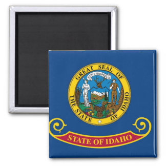 Idaho State Flag 2 Inch Square Magnet