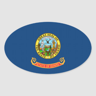 Idaho State Flag 2.png Oval Sticker