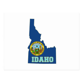 Idaho State Flag and Map Postcard
