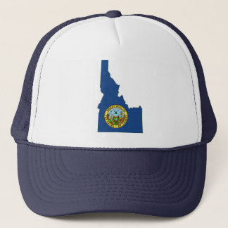Idaho State Flag and Map Trucker Hat