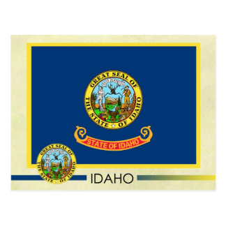 Idaho State Flag and Seal Postcard