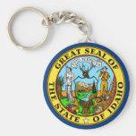 Idaho State Flag Basic Round Button Keychain