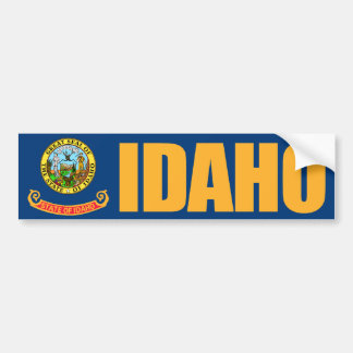 Idaho State Flag Car Bumper Sticker