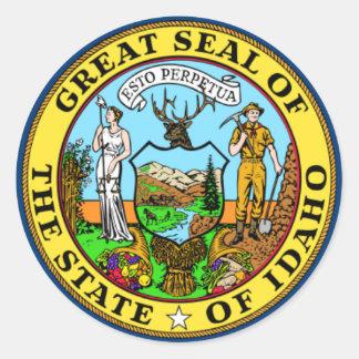 Idaho State Flag Classic Round Sticker