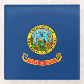 Idaho State Flag Design Decor Glass Coaster