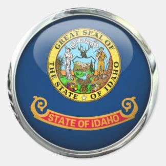 Idaho State Flag Glass Ball Classic Round Sticker