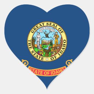 Idaho State Flag Heart Sticker