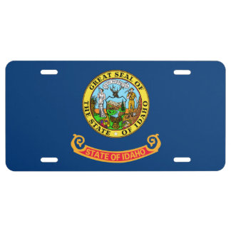 Idaho State Flag License Plate