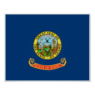 Idaho State Flag Poster