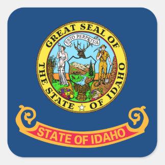 Idaho State Flag Square Stickers