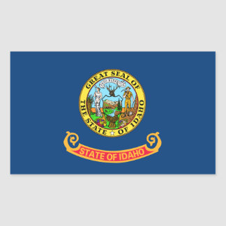 Idaho State Flag Rectangle Stickers