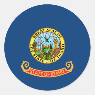Idaho State Flag Round Sticker