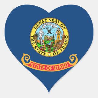 Idaho State Flag Heart Stickers