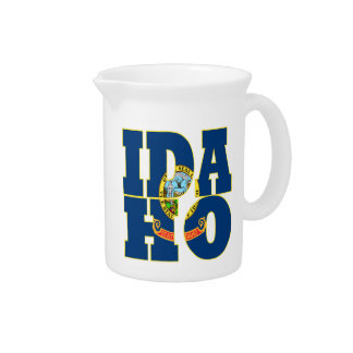 Idaho state flag text beverage pitcher