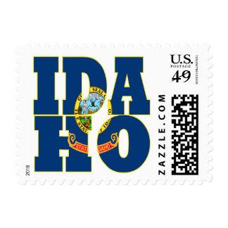 Idaho state flag text postage